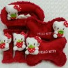 Bantal Mobil 3 in 1 Boneka HELLO KITTY Strawberry Merah
