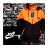 Jaket Parasut Nike Orange+Hitam