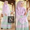 Busana Muslimah YMA 001 mint ungu