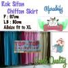 Rok Siffon - Rok Sifon - Rok Chiffon - Skirt - Chifon