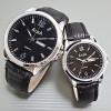 Jam Tangan Alba Couple 126 Leather Black