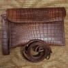 Mini Evelope motif Croco warna cokelat