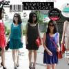 new look pleated dress