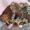 Bahan Batu Pancawarna Motif Rumput Merah (P173) 0,6Kg Kristal Tembus