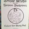 Snow white colour story pad buku cerita bergambar mewarnai