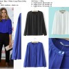 Atasan Import, White, Blue, Soft Hemp, Lookbook, Murah
