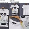 Kaos/ Tshirt Import, Cotton, Cool Times, White, Lookbook,Murah