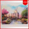 Lighting Painting 40X50 Castle Cinderella / Pajangan Lukisan Lampu
