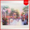 Lighting Painting Tempo Dulu 40X50 / Pajangan Lukisan Lampu Murah