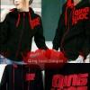 Jacket / Sweater Korea QingLuoc Black Striped Red Couple