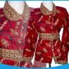 1021 blouse batik merah XL LD100cm