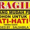 Stiker fragile anti air 6 x 4 cm