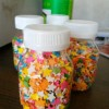 confeti bentuk bintang kemasan botol 50 gr