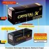 SANGAT MURAH + ORI DI SINI -  CRISTAL X ORIGINAL ( TIDAK ORI BALIK UANG 100 X LIPAT ) - DOUBLE HOLOGRAM ( ADA HOLOGRAM EMAS )