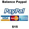 $15 Balance Paypal