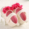 Sepatu Prewalker Bayi Perempuan Rajut Bunga Bougenvile