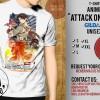 "T shirt Anime Gildan / Kaos ATTACK ON TITAN keren ala ""SHINGEKI"""