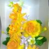 Hiasan Kue Bunga Plastik #3 Kuning