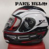 HELM KYT RC 7 RC SEVEN WHITE BLACK RED FULL FACE RC7