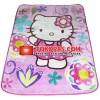 Karpet Selimut Warna Warni - Hello Kitty Bunga (Busa 2cm)