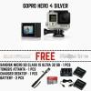 GoPro HERO4 Silver + monopod + mmc 32 gb + 2 battery + desktop charger