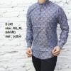 Baju Batik Pria Slim Fit Modern Lengan Panjang D245
