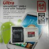 Micro Sd Card Sandisk 64gb Ultra Class10 80mbps New!