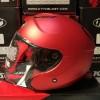 Helm KYT Kyoto Red Doff Half Face Full Visor Merah Dop Halface
