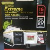 SANDISK EXTREME microSDHC card 16GB speed 90 MB /s