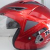 Helm KYT Scorpion King Red Maroon Glossy Solid Halface Visor