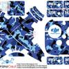Sticker drone dji phantom 3 pro/adv/4k Loreng biru