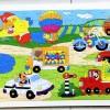 Mainan Edukatif Jigsaw Puzzle Kayu Besar 96 pcs - Alat Transportasi