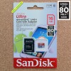 16GB SanDisk Ultra 80MB/s UHS-I/Class 10 MicroSDHC + Adapter