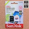 32GB SanDisk Ultra 80MB/s UHS-I/Class 10 MicroSDHC + Adapter