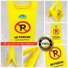 No Parking A Sign Foldable / Warning Signs Portable Tera