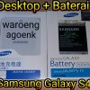 Desktop + Baterai Samsung Galaxy S4 Original 100%
