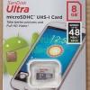 Memory Microsd / Micro SD / SDHC 8gb / 8 GB Sandisk Ultra Class 10