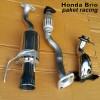 Paket Knalpot racing Honda brio