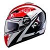 Helm KYT Alpha Venom Black Red Full FullFace Double Visor