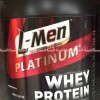 L-men Platinum Whey Protein 1kg Choco Latte Susu Lmen Platinum Coklat