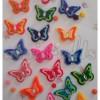 Aplikasi Flanel Kupu-kupu Gradasi Kecil
