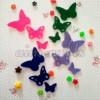 Aplikasi Flanel Potong Kupu-kupu Kecil