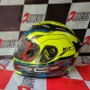 helm KYT RC 7 motif #14 yellow fluo