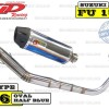 Knalpot CLD Racing Satria FU/Raider type C6 Silencer Oval Half Blue