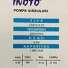 pompa boster/pompa sirkulasi Inoto LRS15-8,5Z