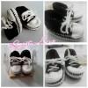 Sepatu Bayi Rajut Hitam Putih Cowok