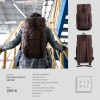 Visval Metro Brown - Tas Ransel Backpack Laptop