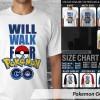 Kaos Pokemon GO 4 TX Unisex