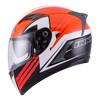 Helm INK Duke Full Face Fullface Black Orange Solid Visor Motif
