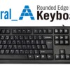 A4TECH KRS - 85 NATURAL A ROUNDED EDGE KEYBOARD PS2 (BLACK)